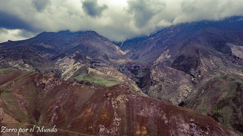 Vistas desde el castillo de Alamut